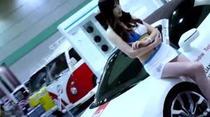 性感车模 - 海歌 - 很想回头Dj贝勒漂亮汽车模特现场视频